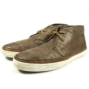 Frye Chukka Ankle Boots Distressed Leather